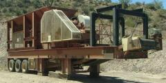 Portable Pioneer 30x42 Jaw Crusher plant with VGF