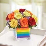 Rainbow Bouquet Of Roses