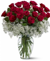 24 Bright Red Roses