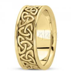 14K Gold Celtic Knot Wedding Ring