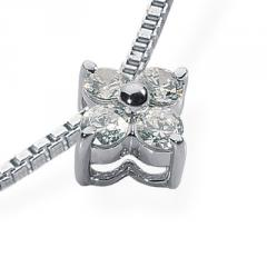 0.28 ct. Flower Design Diamond Pendant