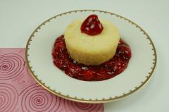 NY Style Mini Cheesecake with Cherry Topping