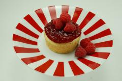 NY Style Mini Cheesecake with Raspberry Topping
