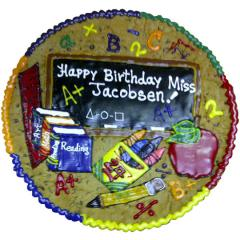 Special School Message Cookie Cake