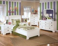 Beautiful White Finish Bedroom Set