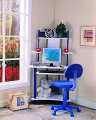 Kings Brand Blue Finish Corner Workstation Kids