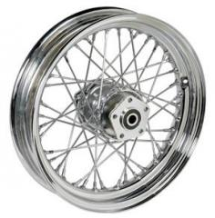 40 spoke 16 Chrome dual flange hub 7/16""