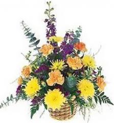 Mixed Flower Birthday Basket