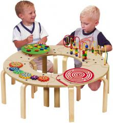 Mini Circle of Fun Activity Table - Wooden Play