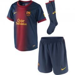 Nike FCB Barcelona Little Boys Home Kit Navy