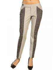 Straight Leg Pant with Tweed Combo