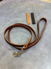Buckaroo leather dog leash
