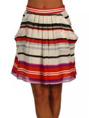 Flounce Skirt with Deep Pockets