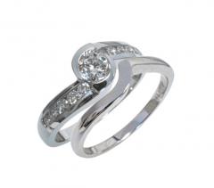 DRSR06304-4.5 Diamond Bridal Set Rings