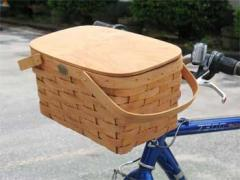 Peterboro Picnic-Time/Tote Bicycle Basket with Lid