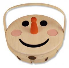 Peterboro Countertop Snowman Collectible Basket