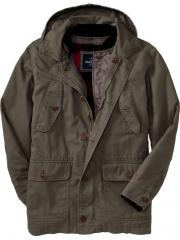 Men's 2-in-1 Hooded Canvas Jackets