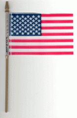 Handheld American Stick Flags
