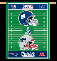 27 x 37 in. Super Bowl 46 Banner Polyester Printed