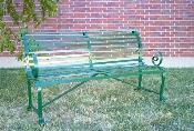 Clear Creek Wrought Iron Park Bench