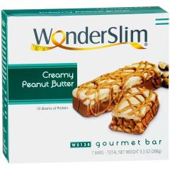 WonderSlim Creamy Peanut Butter Gourmet Bars