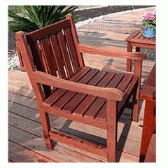 Mahogany Outdoor Patio Arm Chair