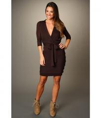 Merino Wool Sweater Wrap Dress