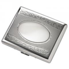 Double Sided Silver Cigarette Case