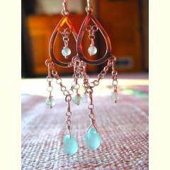 February Crystal and Silver Dangle Earrings