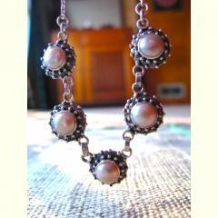 Gunja Pearl and Silver Necklace