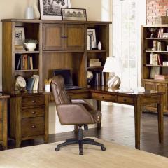 L Desk & Hutch