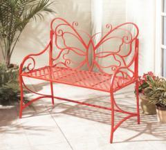 Iron Butterfly Garden Bench