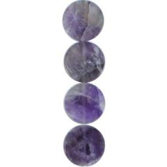 Amethyst Disk Beads