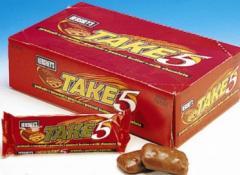 Take Five Candy Bars