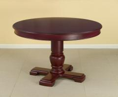 AA Importing Dining Table Red Top Round