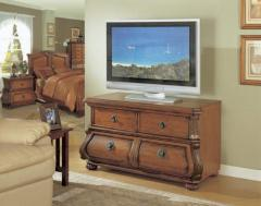 TV stand, antique cherry finish