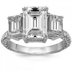 18K White Gold Diamond Custom Engagement Ring