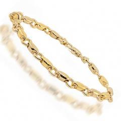 14K Two Tone Gold Womens Bracelet