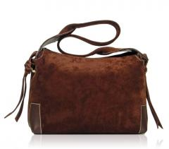 Handmade Italian Suede Leather Shoulder Bag