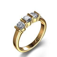 Three Stone 3/4 ctw Diamond Ring