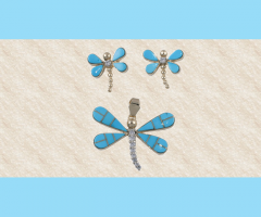 Dragonfly Pendent & Earrings