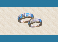 White Buffalo Wedding Rings