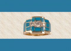 Three Diamond Men's Ring