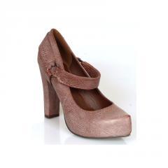 Brown High Platforms Almond Toe Pumps Women's