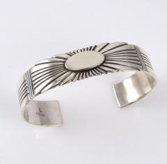 Stamped Silver Cuff Bracelet