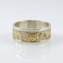 Gold on Silver Storyteller Ring