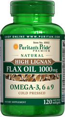 High Lignan Flax Oil 1000 mg