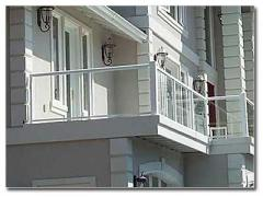 Aluminum Railing with Tempered Glass