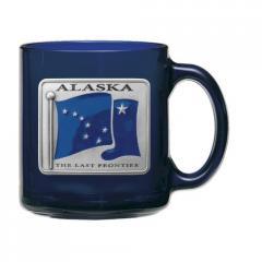 Alaska Flag Coffee Mug, Cobalt
