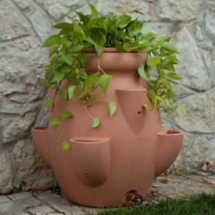 Terra Cotta 40 Gallon Tuscana Strawberry Pot Rain